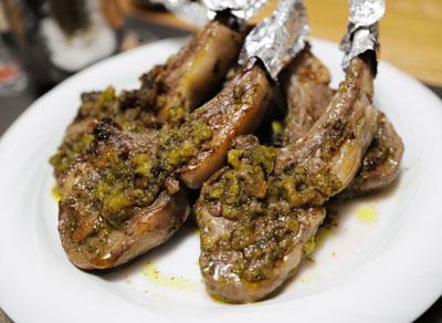 ラム肉のジェノベーゼソース
