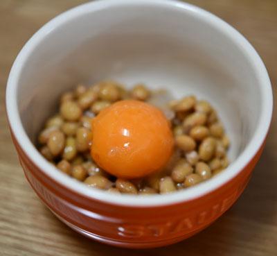 備蓄実験の冷凍卵