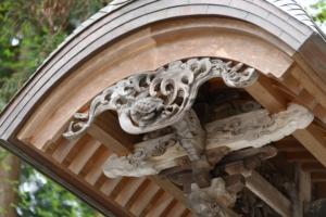 熊野大社(山形県南陽市)の亀彫刻