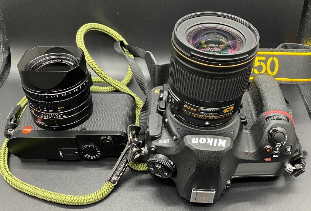 Leica Q2比較してD850+28mmのサイズ感