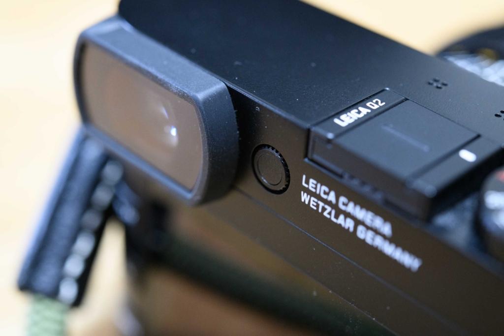 Leica Q2視度調整の格納状態