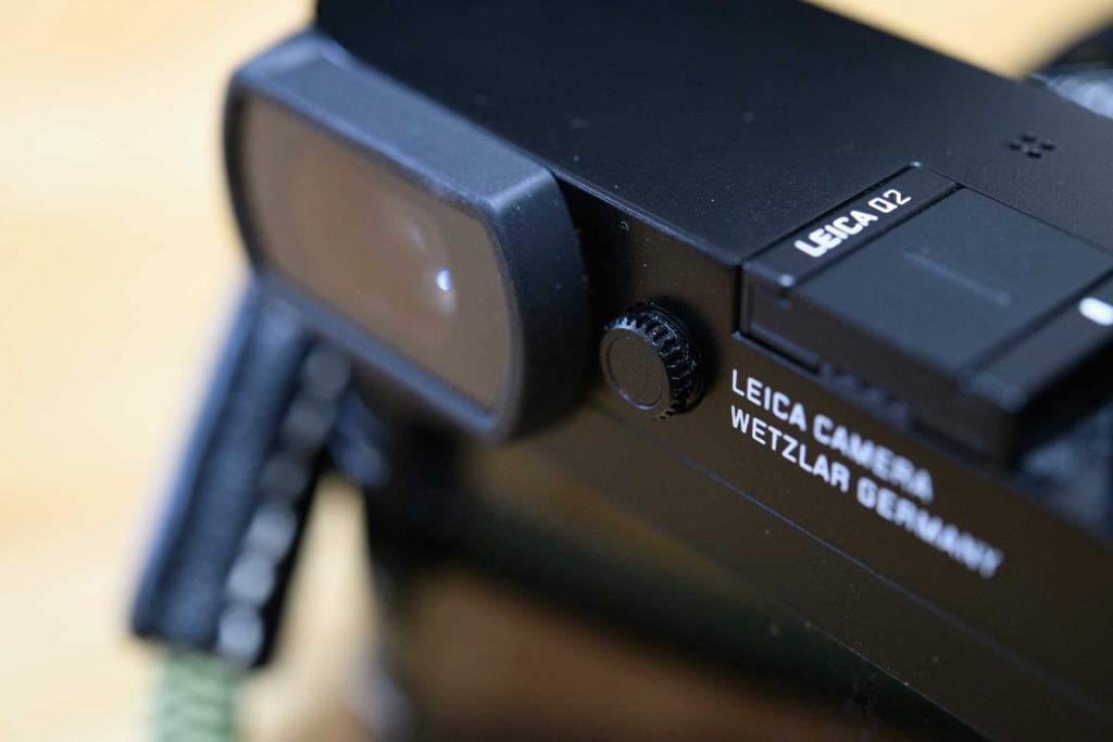 Leica Q2視度調整の使用中